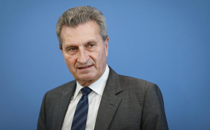 Comisarul european pentru buget, Günther Oettinger.