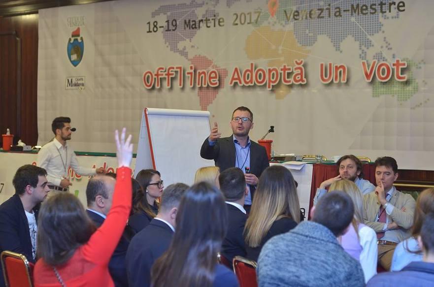 Şedinţă în cadrul forumului diasporei moldoveneşti în Veneţia.