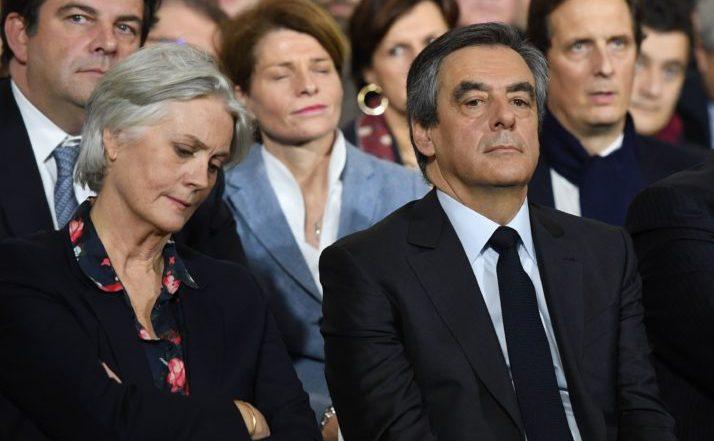 Francois Fillon şi soţia sa, Penelope.