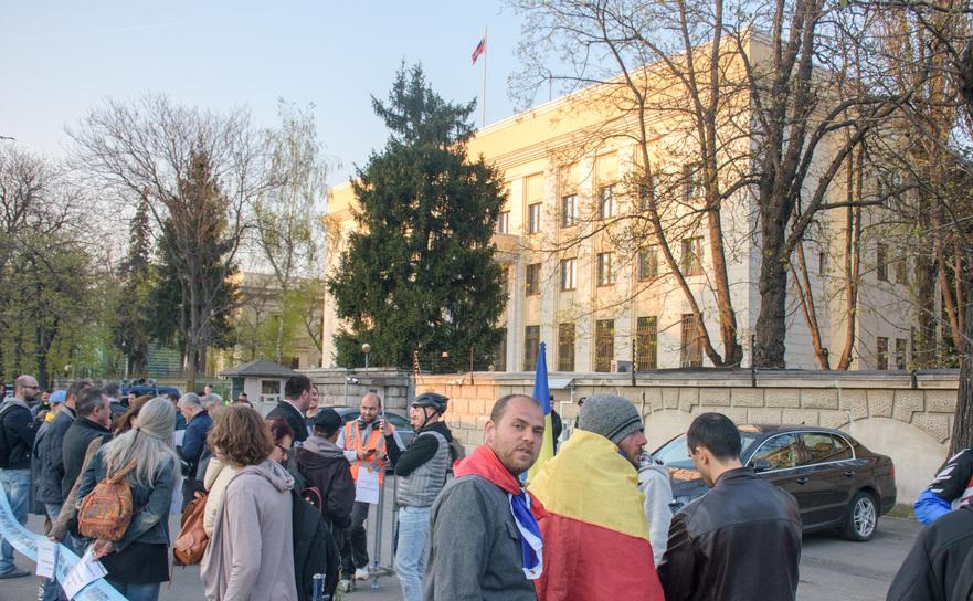 Protest la Ambasada Rusiei