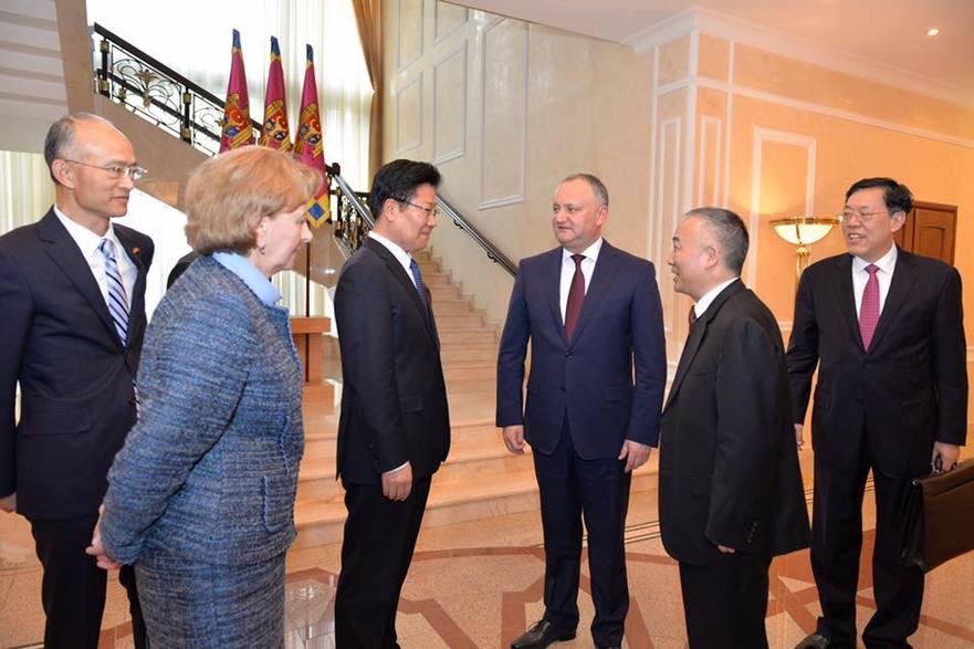 Delegaţia chineză întâlnită de Dodon la Preşedinţie
