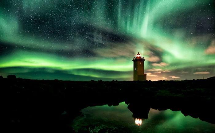 Aurora boreală, Islanda