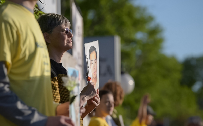 Protest al practicanţilor Falun Gong