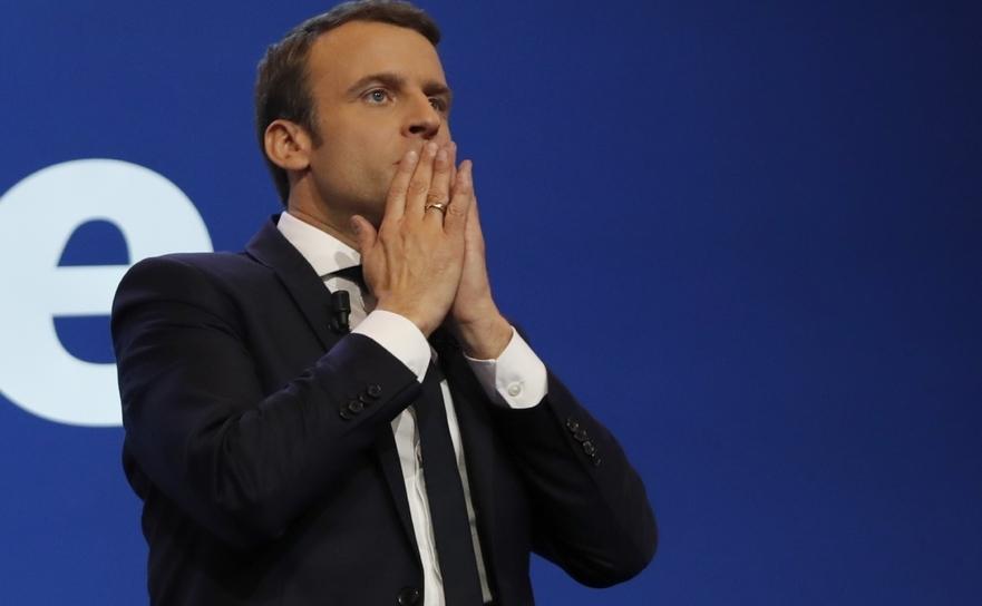 Noul preşedinte al Franţei, Emmanuel Macron.