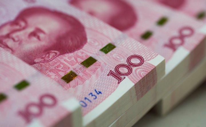 Teancuri de bancnote de 100 yuani.