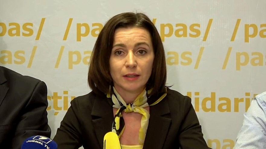 Maia Sandu, preşedintele Partidului Acţiune şi Solidaritate