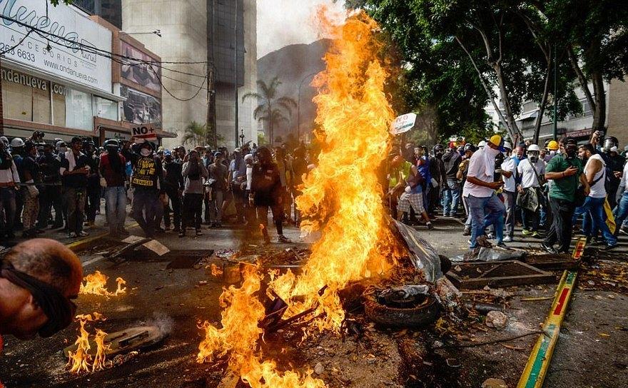 Protest anti-guvern în Venezuela, mai 2017.