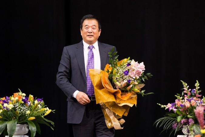 Fondatorul Falun Gong, domnul Li Honghzi, vorbeşte la Conferinţa anuală de la New York, 14 mai 2017