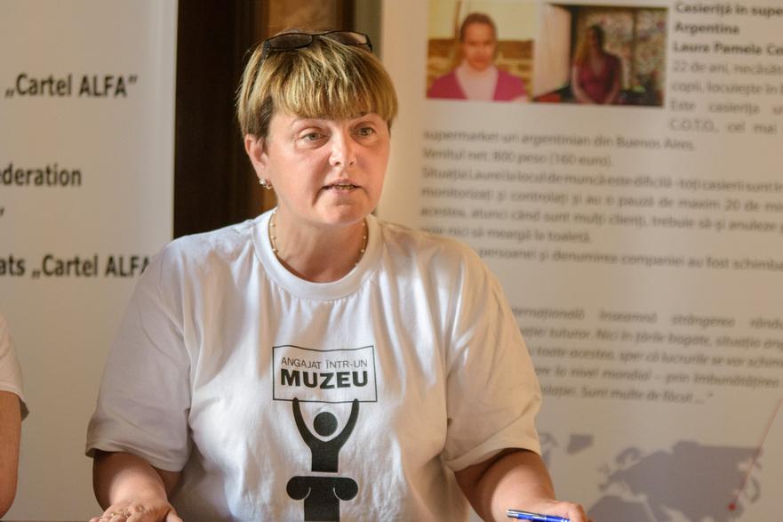 Dr. Mihaela Simion vicepresedinte al Sindicatului Muzeului National din Bucuresti