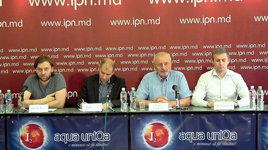 Dumitru Alaiba, Sergiu Tofilat, Arcadie Barbărişie şi Vladislav Gribincea, membri ai societăţii civile