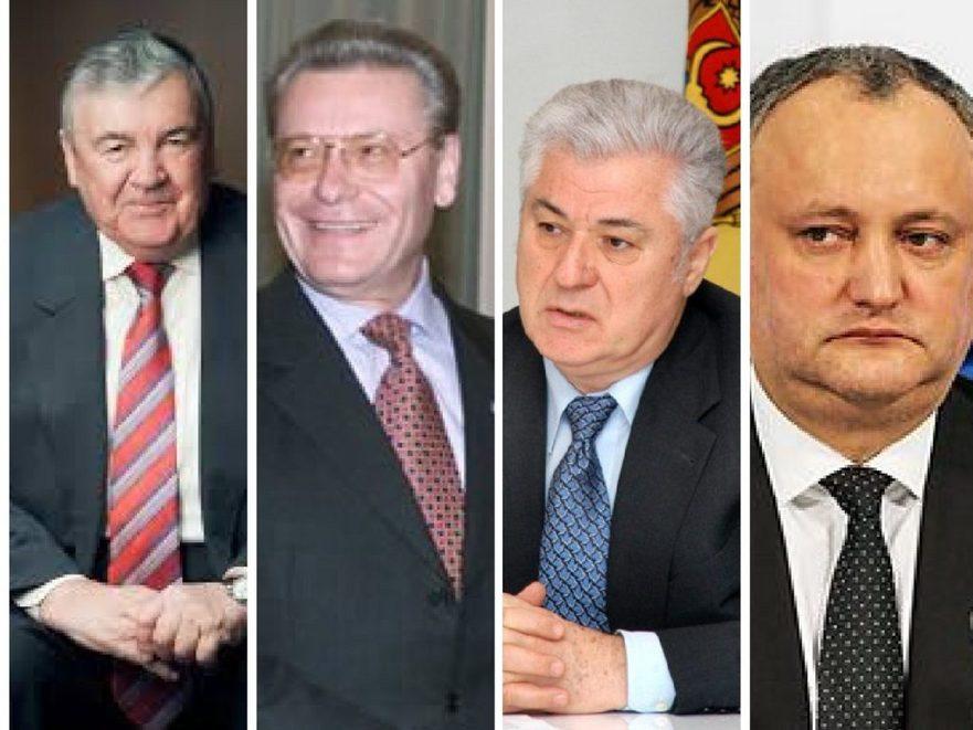 Snegur, Lucinschi, Voronin şi Dodon, preşedinţi ai RM, pro-Kremlin