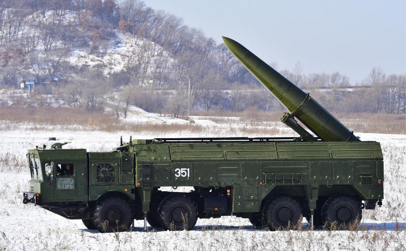 Sistem rusesc de rachete balistice Iskander-M.