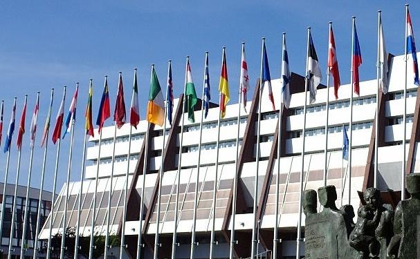 Palatul Europei din Strasbourg, sediul Consiliului Europei.