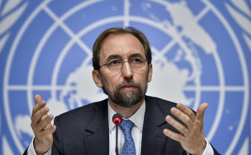 Zeid Ra'ad al-Hussein, înaltul comisar ONU pentru drepturile omului.