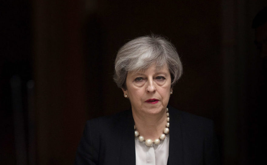 Premierul britanic Theresa May.