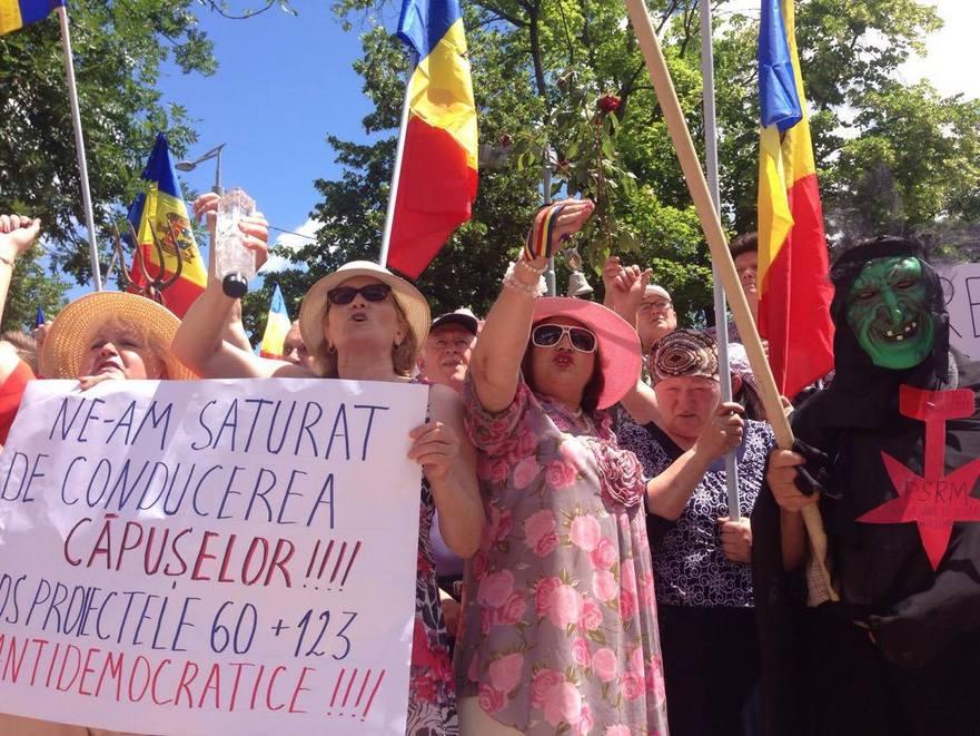 Protest la Chişinău împotriva modificării sistemului electoral 11.06.2017