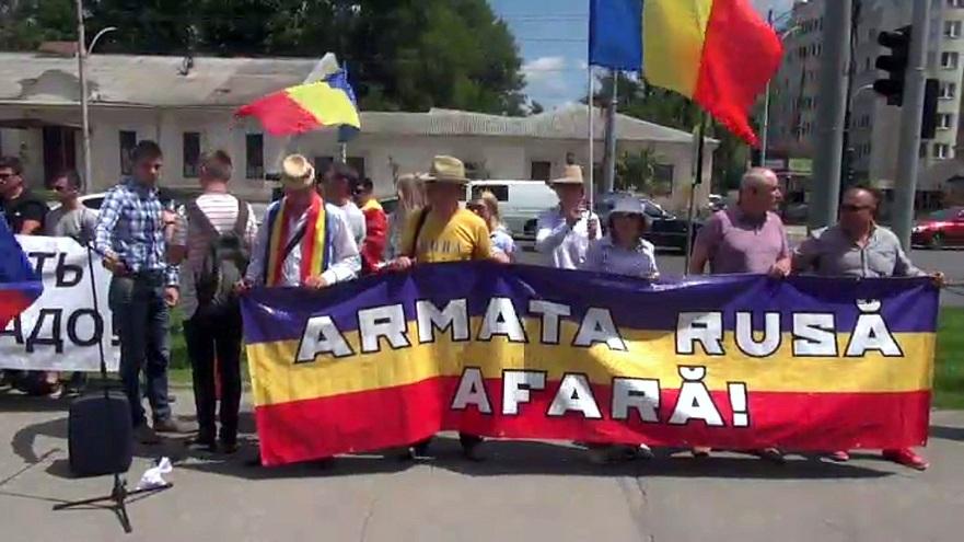 Flash-mob ODIP la Chişinău de Ziua Federaţiei Ruse