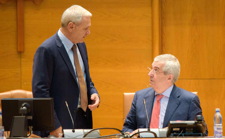Liviu Dragnea si Calin Popescu Tariceanu, presedintii Camerei Deputatilor, respectiv a Senatului