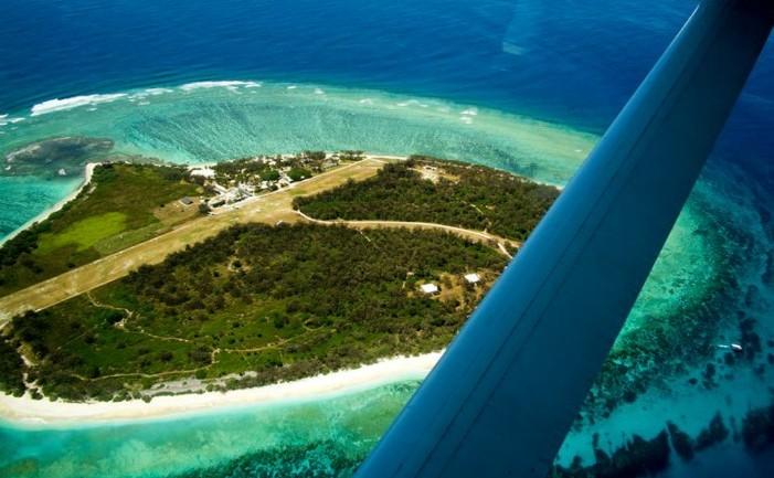 Lady Elliot Island, Australia, văzută din avion