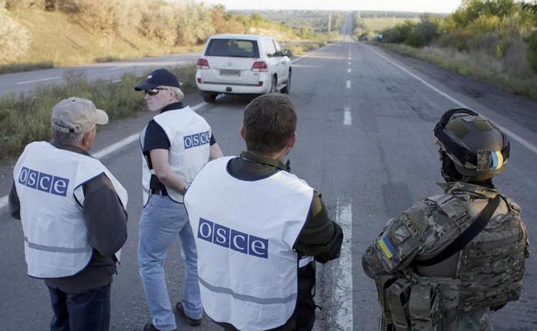 Observatori OSCE în estul Ucrainei.
