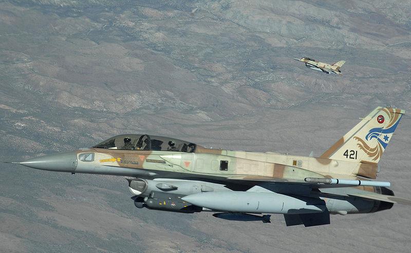 Avion de luptă israelian F-16.
