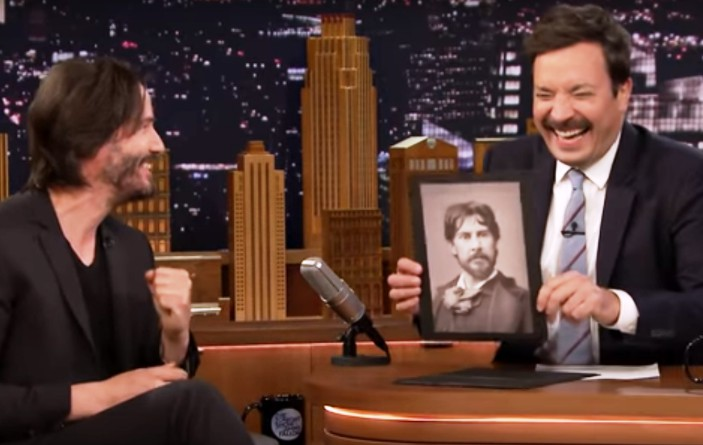 Keanu Reeves şi Jimmy Fallon