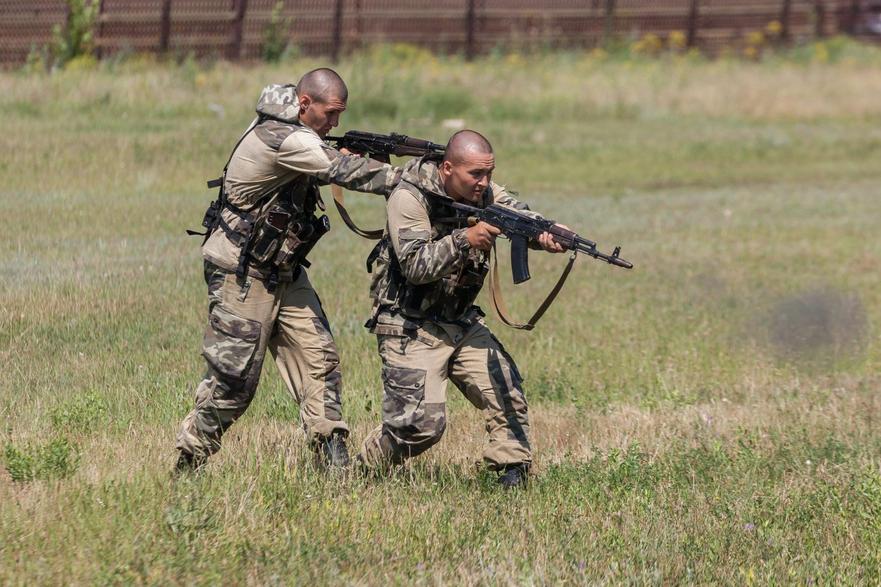 Exerciţii militare în Transnistria.