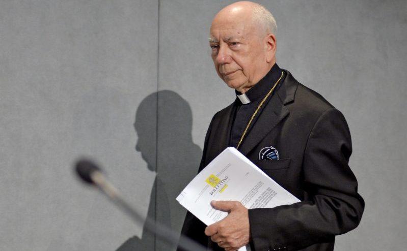 Cardinalul Francesco Coccopalmerio, un consilier cheie al Papei Francisc.
