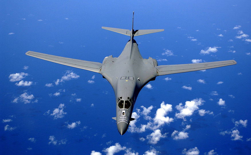 Bombardier strategic american B-1B.
