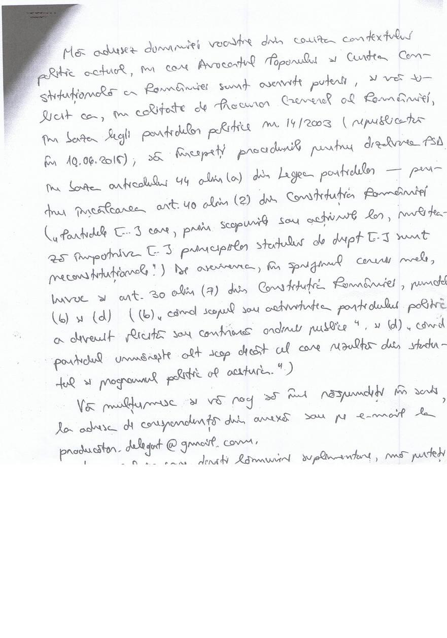 Scrisoarea adresată de Monica Constantin lui Augustin Lazăr, pagina 2