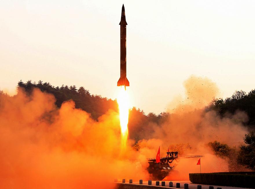 Testul unei rachete balistice în Coreea de Nord, 30 mai 2017