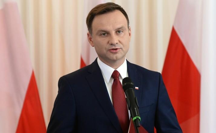 Preşedintele polonez Andrzej Duda.