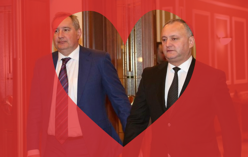Dmitri Rogozin şi Igor Dodon