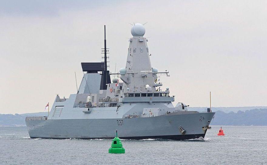 Distrugătorul britanic HMS Duncan.