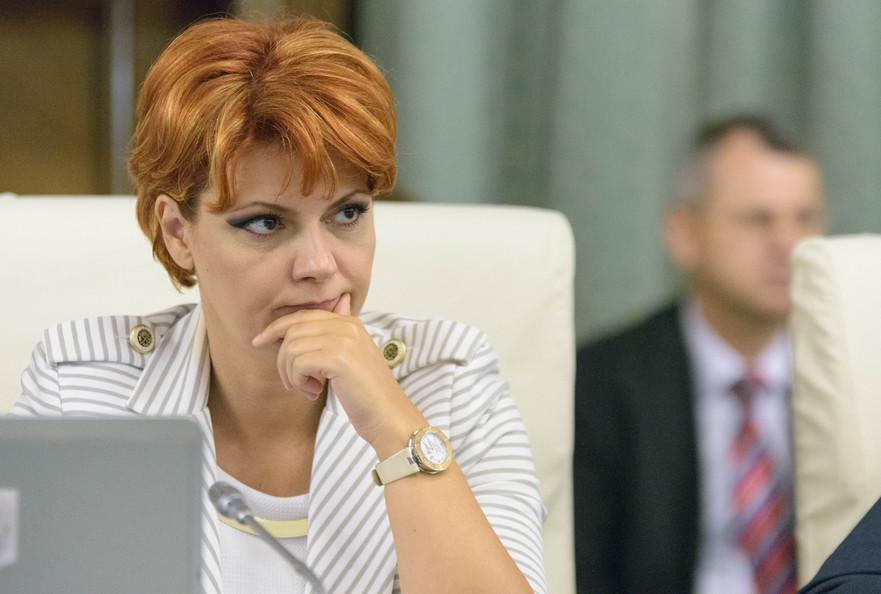 Olguta Vasilescu(Ministrul Muncii si Justitiei Sociale),