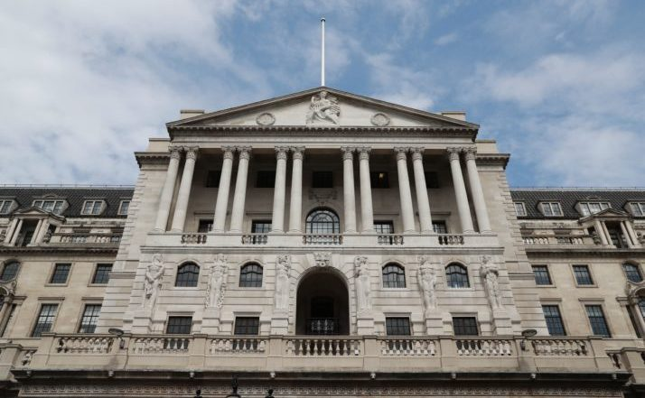 Banca Angliei în City of London, Marea Britanie.