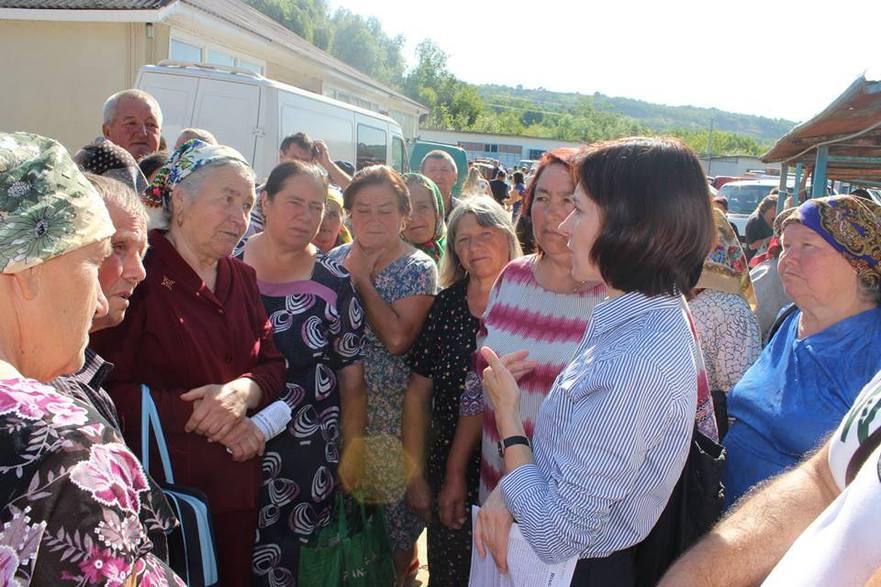 Maia Sandu la întâlnire cu cetăţenii R. Moldova