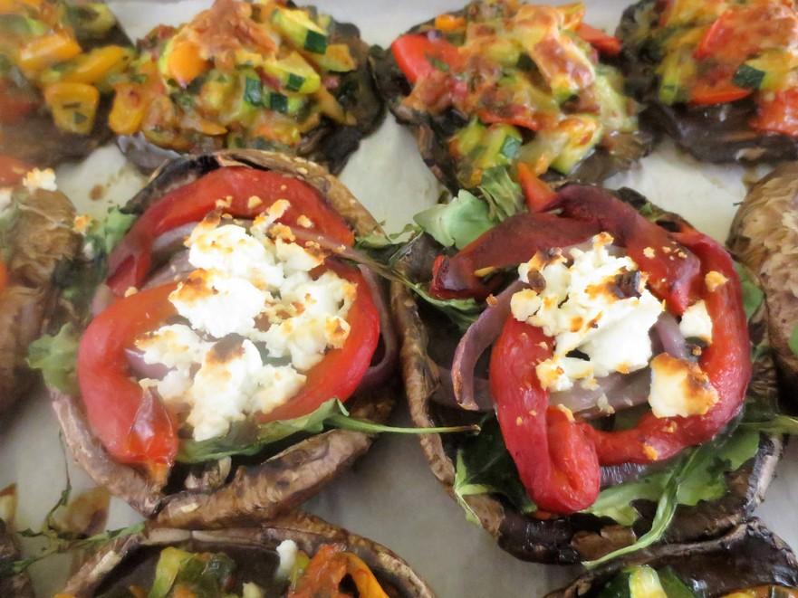 Ciupercile umplute cu legume
