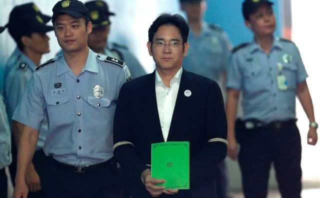 Moştenitorul imperiului Samsung , Lee Jae-yong, la 7 august 2017, la Seoul