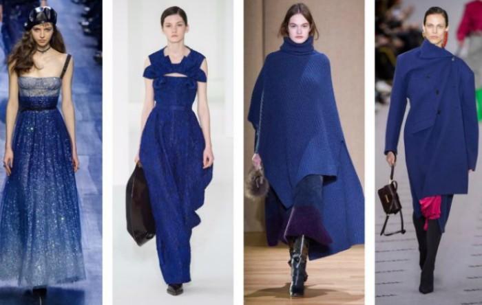 Albastrul, culoarea cerului şi a mării, din nou la modă în sezonul de iarnă 2017-2018: Dior, Delpozo, Agnona, Balenciaga