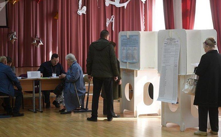 Secţie de votare în capitala rusă Moscova.