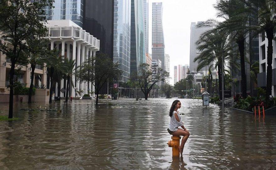 Centrul oraşului Miami, după devastarea adusă de uraganul Irma