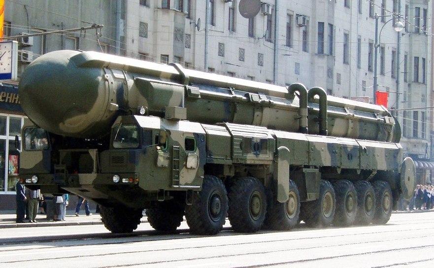 Rachetă rusească Topol în Moscova, Rusia.