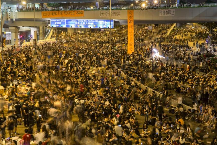 Comemorarea a trei ani de la Revoluţia Umbrelelor, Hong Kong