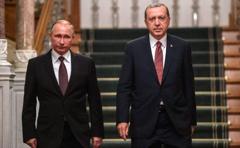 Vizită istorică: Vladimir Putin împreună cu omologul său turc, REcep Erdogan, în Ankara, 29 septembrie 2017