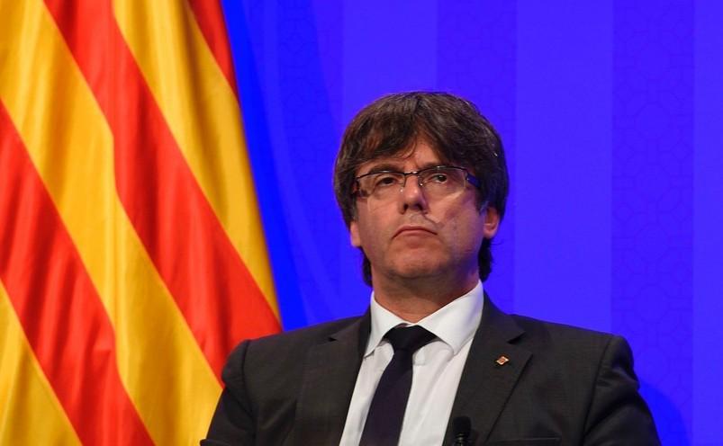 Preşedintele catalan, Carles Puigdemont.