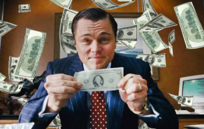 """Leonardo Di Caprio în filmul """"Lupul de pe Wall Street"""""""