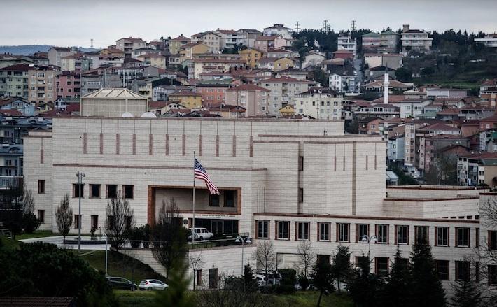 Consulatul american din Istanbul, Turcia.