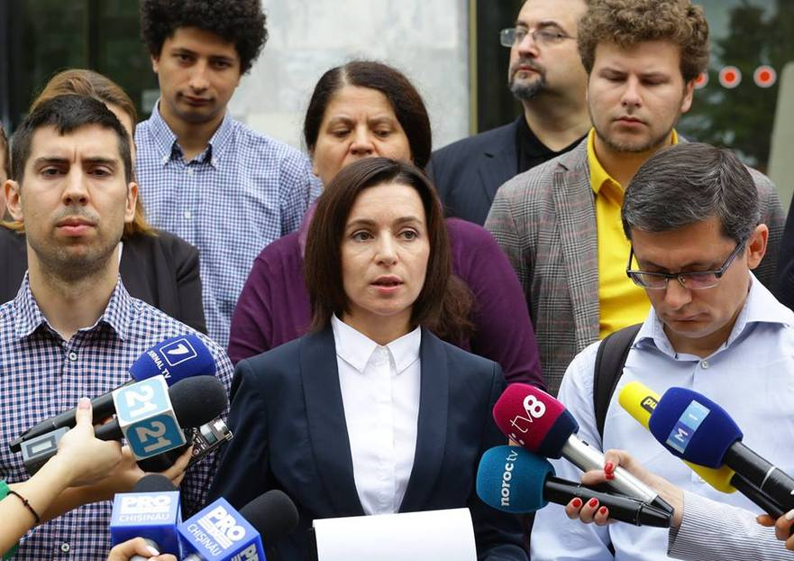 Maia Sandu depune denunţului penal împotriva lui Vlad Plahotniuc