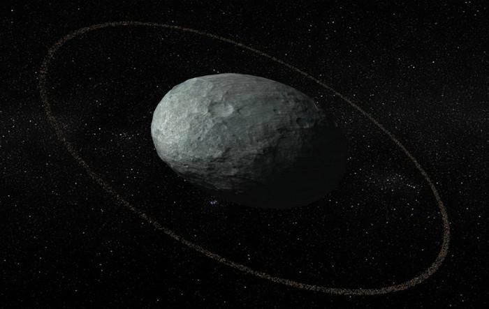 Planeta pitică Haumea şi inelul său